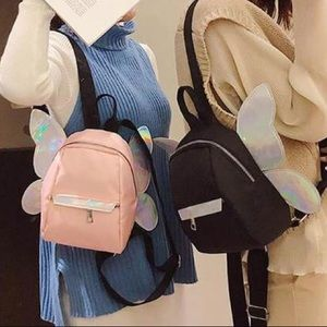 Holo Angel Fairy Wings Mini Backpack
